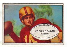 1953 Bowman football card #1 Eddie Le Baron, Washington Redskins EX+