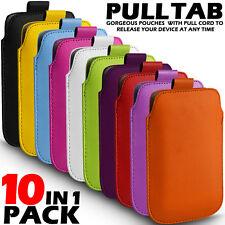 10 En 1 Pack lengüeta bolsa de cuero piel funda para diversos Zte móviles
