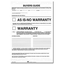 Federal Buyers Guide As-Is No Warranty Form - Pack of 250