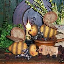 Primitive Bumble Bee Garden Bug Ornie Doll Paper Pattern #483
