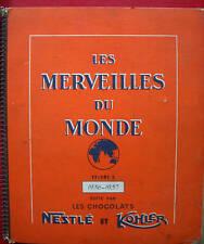 LES MERVEILLES DU MONDE NESTLE KOHLER ALBUM 3 1956-1957