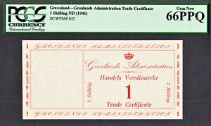 Greenland ( Denmark ) One Skilling ND (1941) Pick-M5 GEM UNC PCGS 66 PPQ
