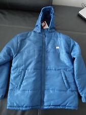 NEU Jacke S für Jungen US Polo Association blau Kapuze Etikett ungetragen Joppe