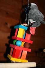 "Medium Parrot Toy (BLOCKS & BALLS) JK122 Large Parrots5"" x 15"" and Chewing - Cli"