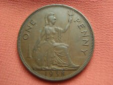 1938 Great Britain Large One Penny Coin Georgivs V Lot 654