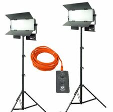Dauerlicht Set LED Panel 6000 lm Bicolor Videoleuchte 2 x Lampen mit Stativen