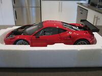 1:18 HOT WHEELS ELITE X2860 FERRARI 458 ITALIA GT2 RED *NEW*