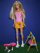 Barbie Pet Spaniel/Bernard Roller Skating Doll Fun Time Puppy Park Swing Playset