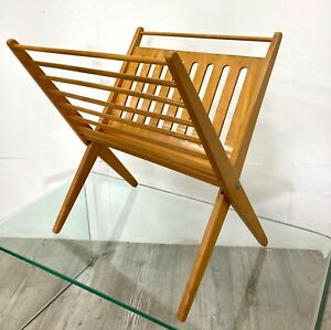 News Paper Magazine Rack in Birch wood by Cees Braakman for UMS Pastoe 1960s