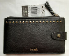 THE SAK Silverlake Large Bifold Credit Card Black Leather Wallet. NEW with tags