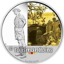 Australia 2011 Famous Battles Australian History #2 Tobruk WW II Silver Proof $1