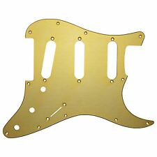 Gold Anodized 11 hole Stratocaster Scratchplate Pickguard Will Fit USA/Mexican