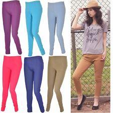 Ladies Skinny Jeggings Coloured Denim Pants Stretchy Trousers Leggings Pockets