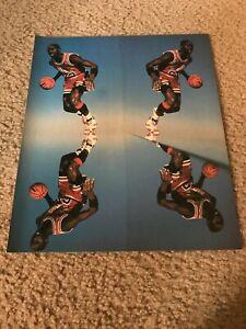 Vintage 1985 NIKE AIR JORDAN I Basketball Shoes Poster Print Ad MICHAEL JORDAN