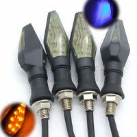 4x Smoke Motorcycle LED Turn Signal Indicator Lights Lamp Amber For Harley Honda