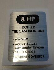 Kohler 8-HP Wheel Horse Artic Cat K181; black & silver decal