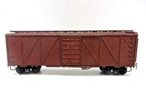 HO Vintage Roundhouse Craftsman Built Undecorated All Metal 40' Wood Boxcar (999