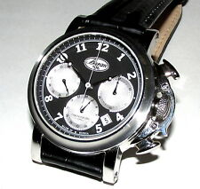 BURAN 31681 MECHANICAL CHRONOGRAPH No145/300 STAINLESS BLACK FACE WATCH 25J 30M