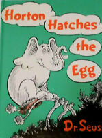 Vintage Dr Seuss Horton Hatches The Egg Hard Cover Book 1st Printing 1940 1968