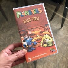 RARE ~ 'PLONSTERS' Wild West 2002 ABC For Kids VHS Pal VIDEO Tape ~ EC