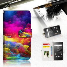 Colorful Cloud Wallet TPU Case Cover for Sony Xperia Z5 Premium A021