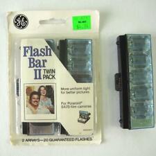 GE Flash Bar II For Polaroid SX-70 Camera Twin Pack 20 Flashes Plus Bonus