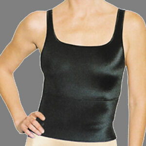 Rago Shapewear Soft Shaping Wide Band Black Camisole Size Medium