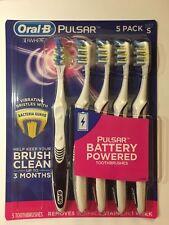 5 Pack Oral-B Pulsar 3D Blanco Cepillo de dientes alimentado por batería S Suave Cerda Genuino