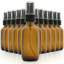 12 Pack Empty Glass Bottles 15 ml Cleaning Solutions Amber Mist Spray Containers