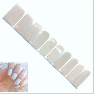 Jaysea Nails Polish Strips - Color Ivory Beige Neutral Street Nail Art B4G1 Free