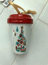 Disney Disneyland Starbucks Christmas Mini Tumbler Happy Holidays Ornament 2019
