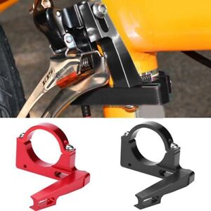Foldable Bike Front Derailleur Adapter Conversion Mounting Base 40mm Clamp Ring'