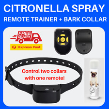 2-in-1 AUTOMATIC CITRONELLA ANTIBARK BARK SPRAY COLLAR with REMOTE CONTROL