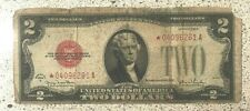 1928 G $2 United States Red Seal Star Note -VF+