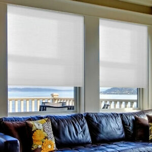 """Cut-to-Width Cordless Light-Filtering Cellular Shade White 18-23.5"""" 23 W x 48"""" L"""