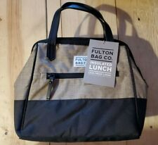 * Fulton Bag Co. Insulation Lunch Bag Tan Black antimicrobial product protection