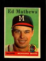 1958 TOPPS #440 EDDIE MATHEWS VGEX BRAVES HOF *SBA1270