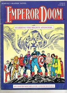 Marvel Graphic Novel #27 The Avengers in EMPEROR DOOM! 1987 RARE / TOUGH Book!