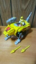 Imaginext 2015 Yellow Sabertooth Tiger Zord Mighty Morphin Power Rangers