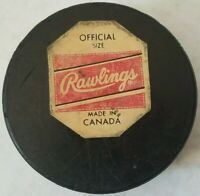 1972-75 DETROIT RED WINGS OFFICIAL NHL RAWLINGS PUCK VINTAGE BILTRITE CANADA