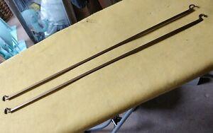 PAIR ORIGINAL GOLD STAPLES LADDERAX SHELF SUPPORT BARS  59 CM SHELVES (7 availab