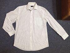 "Shirt Mens 15.5 "" Inch Neck Formal Work Collar White Blue Button Thomas Nash"