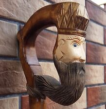 Wizzard Cane Walking Stick Wooden Handmade Wood Carving Exclusive Gift=