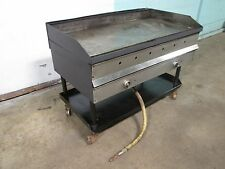 """48""""W HEAVY DUTY COMMERCIAL NATURAL GAS 4 BURNERS GRIDDLE/FLAT TOP GRILL ON STAND"""