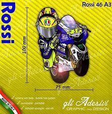 Adesivo Valentino Moto Mascotte caricatura stickers Rossi carene casco 10 x 7 cm