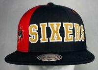 Mitchell and Ness NBA Philadelphia 76ers Hexagon Snapback Hat, Cap, New