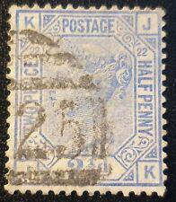 Duzik: Gb Qv 1881 Sg157 blue Plate22 J-K used stamp (No776)*