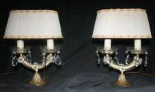 VINTAGE PAIR OF MARIE THERESE TABLE LIGHTS TWO GLASS CLAD LAMPS (AP3)