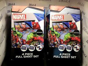 "Marvel Avengers ""Fight Club"" Super Soft 4 Piece Full Size Sheet Set - Brand New"