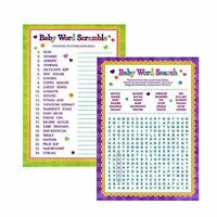 Baby Shower Word Games - Word Search & Word Scramble For Boy and Girl Unisex
